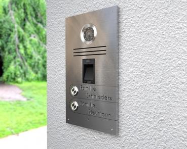 2-Familien-Video-Türsprechanlage mit Fingerprint