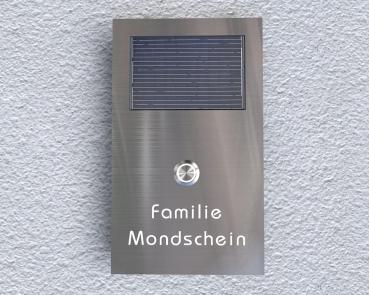 Solarbetriebene Aufputz Edelstahl-MP3-Funkklingel