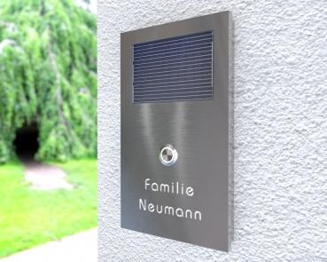 Solarbetriebene Aufputz-Edelstahl-MP3-Funkklingel