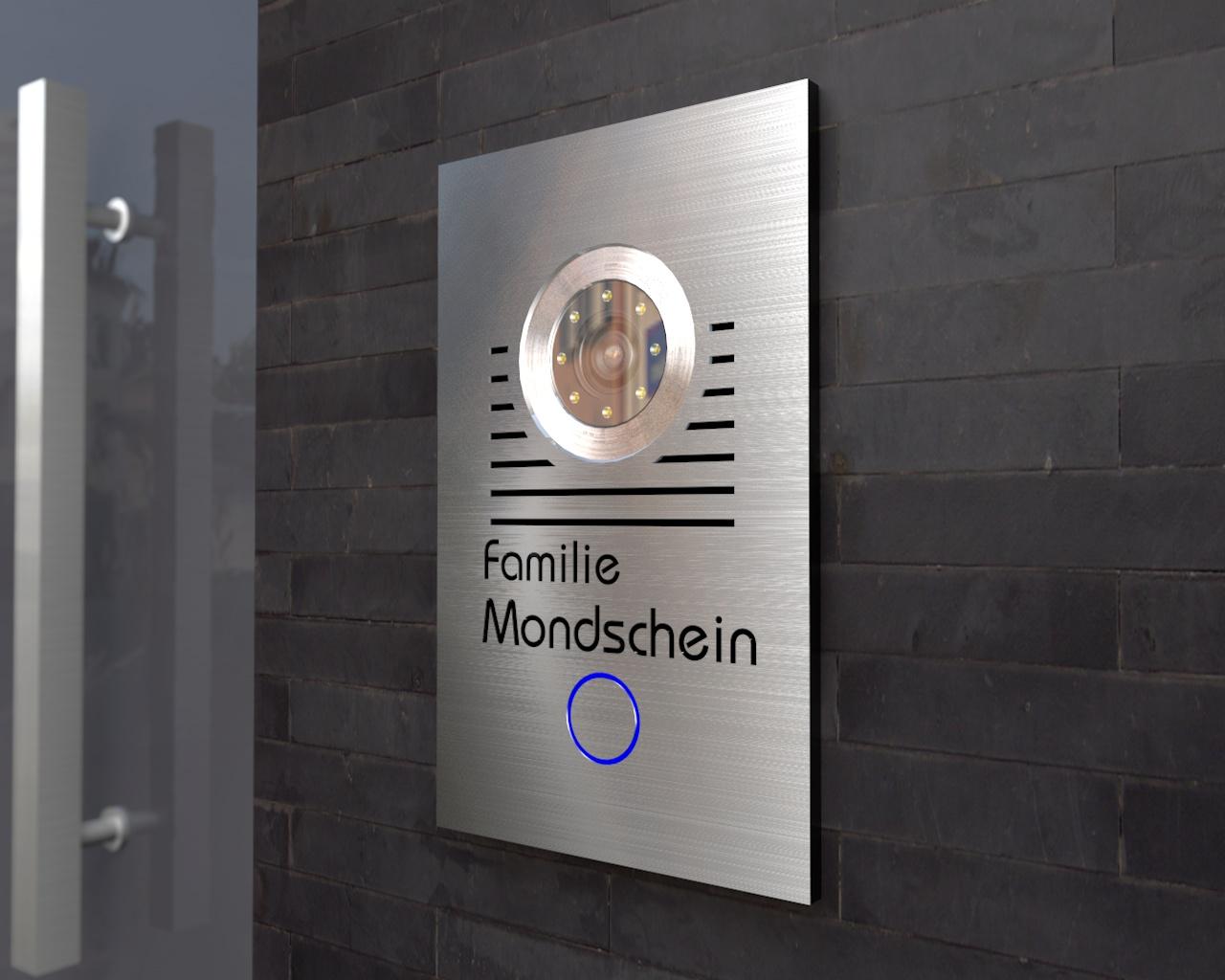 t rsprechanlage mit 7 zoll touchscreen monitor kamera von. Black Bedroom Furniture Sets. Home Design Ideas
