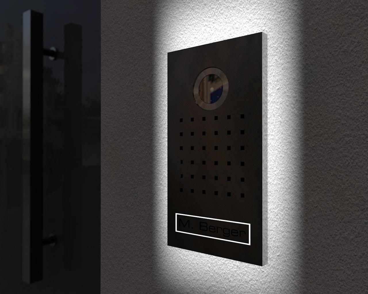 video t rsprechanlage mit 7 zoll touchscreen monitor. Black Bedroom Furniture Sets. Home Design Ideas