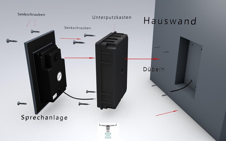 video t rsprechanlage mit 7 zoll touchscreen monitor kamera von sony. Black Bedroom Furniture Sets. Home Design Ideas