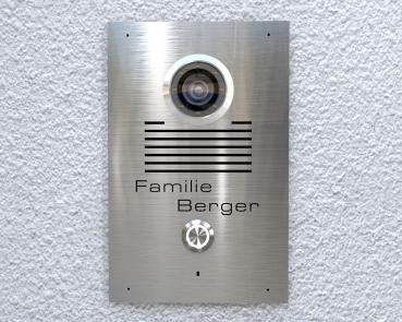 2 Draht-Video-Türsprechanlage mit 7 Zoll Touchscreen Monitor Kamera